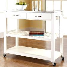 Island Kitchen Cart Rolling Kitchen Island Cart Intended For Metal
