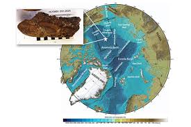 Bathymetry Of The Arctic Ocean With Black Rectangle Delineating Study Area White Star Marks