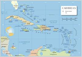 Politcal Map Of West Indies In The Caribbean