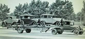 100 1930s Trucks Three New 193031 Ford Model As Loaded On A Fruehauf Flat Bed