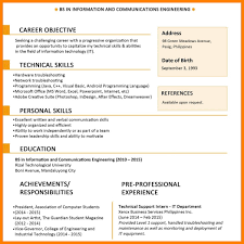 Simple Resume Sample For Superb Fresh Graduate Intended Template