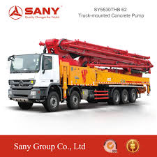 100 Concrete Pump Truck For Sale Sany Syg5530thb C8 Series Smart Boom System 62m Mounted