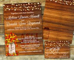 Rustic Fall Wedding Invitation Shower