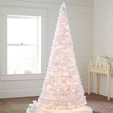 Brylanehome 71 2 Ft White Pre Lit Pop Up Trees