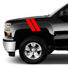 100 Truck Fender Chevrolet Silverado Pickup Hash Bar 4 Vinyl RACING