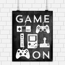 Video Game Printable Art Typography Controllers Black White Vintage Print Wall Home Decor 8 X 10 Instant Download Digital File