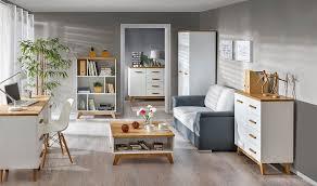 wohnzimmer komplett set a panduros 6 teilig farbe kiefer weiß eiche braun