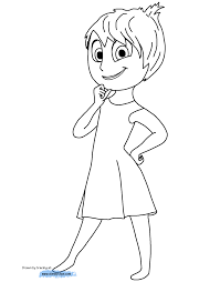 Disgust Inside Out Coloring Pages 1