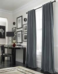 blaugraue vorhänge schlafzimmer vorhänge