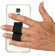 LAZY HANDS 2 Loop Phone Grip FITS MOST Black