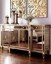 Breathtaking Mirrored Buffet For Home Design Nice Living Room With Candle
