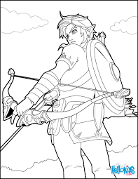 Link Breath Of The Wild Coloring Page Color Online Print