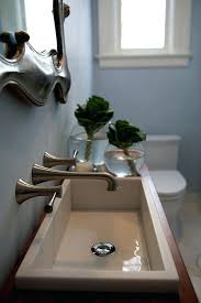 Trough Bathroom Sink With Two Faucets Canada by Trough Bathroom Sink With Two Faucets Canada Narrow Units Remodel