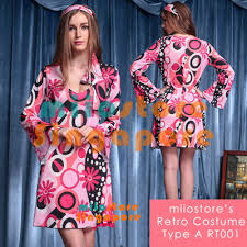 RETRO COSTUMES SINGAPORE VINTAGE DRESS WOMEN AND MEN 60s 70s 80s HALLOWEEN DND