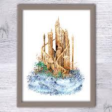 25 Lighters On My Dresser Kendrick by Disney Ariel Poster The Little Mermaid Castle Art Print Disney