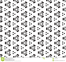 Download Black And White Seamless Pattern With Polka Dots Spots Points Circles