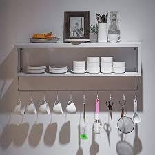 luyiasi vintage schmiedeeisen massivholz küche wandregal wandhalterung badezimmer lagerregal wohnzimmer weinregal tasse regal shelf farbe weiß