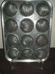Tala Metal Madeleine Shell Baking Pan French Cake 12 Cookies Made In England