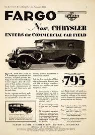 1928 Chrysler/Fargo Commercial Car/truck Ad | Trucks And Pick-ups ...
