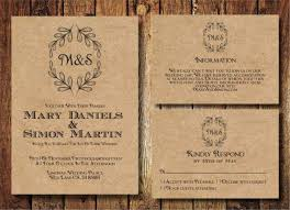 Rustic Wedding Invitation Templates Free