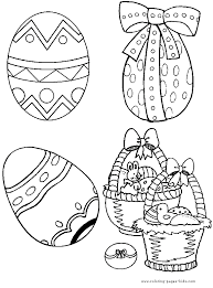 Easter Eggs Free Prtinable Colouring Pages