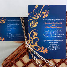 Elegant Navy Blue And Gold Damask Wedding Invitations EWI042 As Low 094