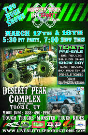 Monsters – Tooele, UT – March 17th & 18th – Live A Little Productions Monster Trucks To Shake Rattle Roll At Expo Center News Truck Night Of Thrills Victorville Tickets In Jam Is Coming The Verizon Dc On January 24th Pgh Momtourage 4 Ticket Giveaway Monsters Tooele Ut March 1617 2018 Live A Little Productions Ticket 214 Izod New Jerseyclosed For The First Time At Marlins Park Miami Discount Code Fall Bash September 15 York Fair Us Bank Arena Giveaway Back 1st Ford Field Mjdetroit Presented By I5 Cars Centrachehalis Chamber