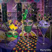 centerpiece grab and go mardi gras accessories these easy to