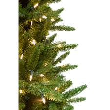 9 Ft Carmel Pine Slim Artificial Christmas Tree With Smart String Lighting