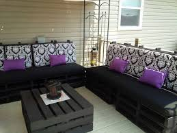 Black And Purple Patio Furniture DIY Project
