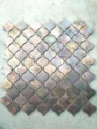 Copper Tiles For Backsplash by Tiles Beveled Arabesque Backsplash Tile Beveled Arabesque Ivory