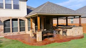 Patio And Deck Combo Ideas by Stamped Concrete Covered Patio Perfection Archadeck Outdoor Living