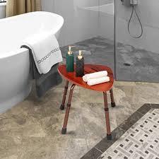 6 loch einstellbare holz bad stuhl natürliche holz farbe medizinische badewanne dusche stuhl bench hocker sitz älteren schwangerschaft möbel
