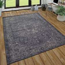 teppich wohnzimmer used look orient design anthrazit