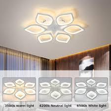 48w led dimmbar deckenle kronleuchter leuchte wohnzimmer le weiß