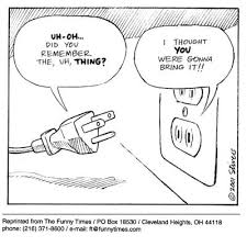 Funny Stivers Electrical Outlet Cartoon From January 31 2002