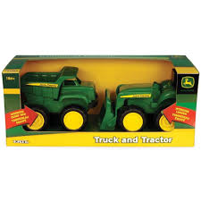 John Deere Big Scoop Dump Truck & Tractor/Loader Set (38cm) | Toy ...