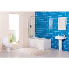 1500mm P Shaped Shower Bath Suite