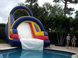 Big Blow Up Water Slides Dipper Slide Into Your Pool Giant Rent