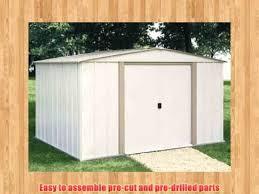 Arrow Newburgh 8x6 Storage Shed by Arrow Shed Sa86 A Salem 8 Feet By 6 Feet Steel Storage Shed Youtube