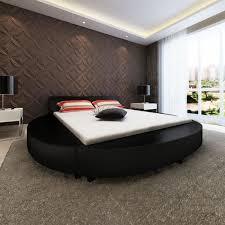 Chambre Avec Lit Rond Lit Rond Design Pour Vidaxl Cadre De Lit Rond 180 X 200 Cm Cuir Artificiel Noir Achat