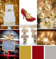 Glittery Gold Red And Grey Celebration