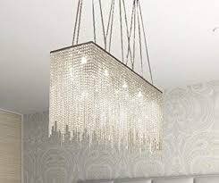 10 Light Modern Contemporary Dining Room Chandelier Rectangular Chandeliers Lighting Dressed With Crystal 28quot