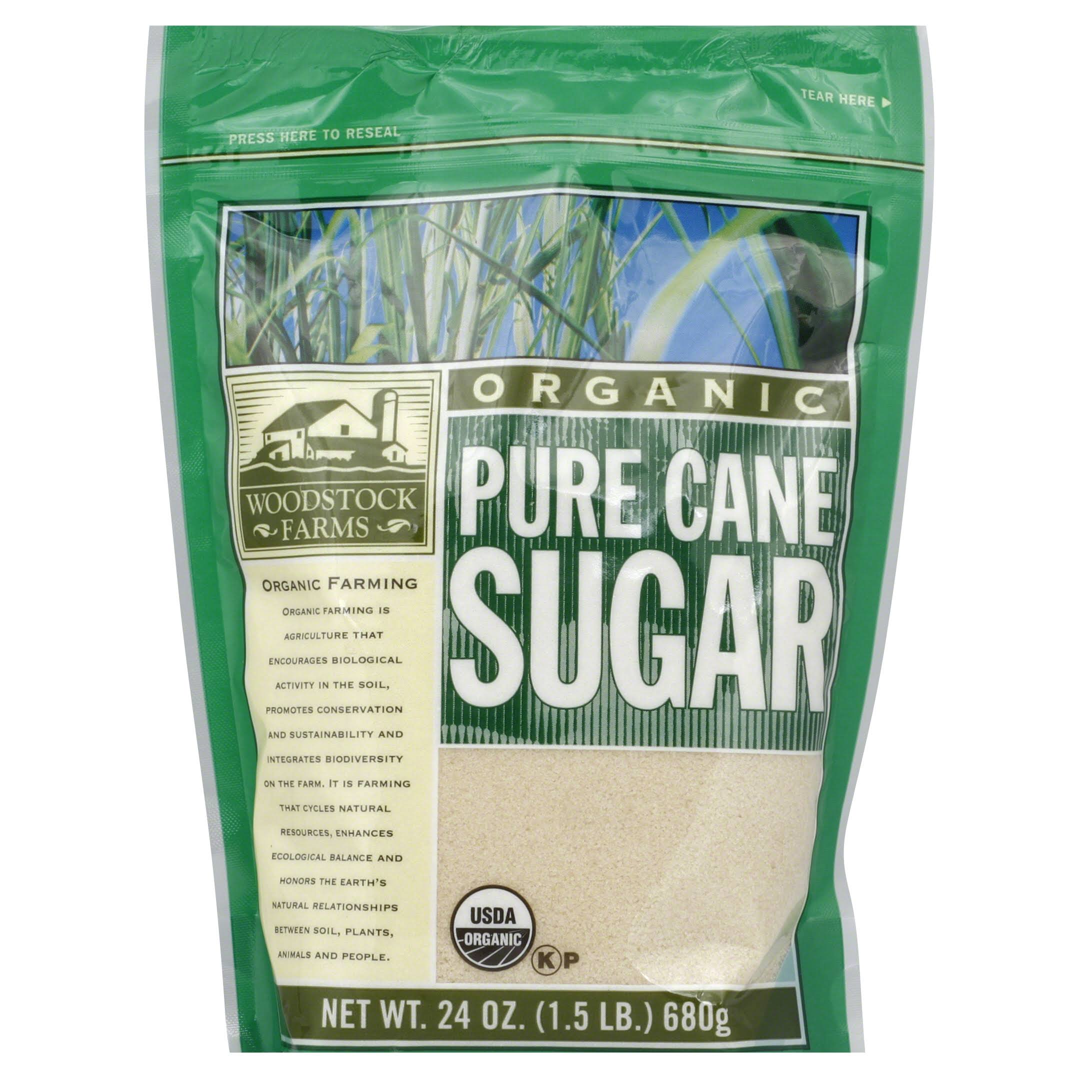 Woodstock Organic Pure Cane Sugar - 24 oz bag