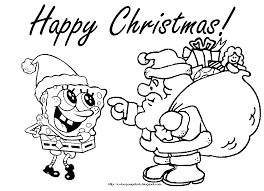 Spongebob Christmas Printable Coloring Pages 01