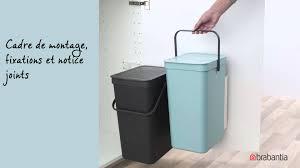 poubelle cuisine de porte brabantia poubelles sort go