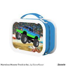 100 Monster Truck Lunch Box Marvelous In The Arena Zazzlecom
