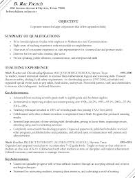 Special Education Teacher Resume Objective