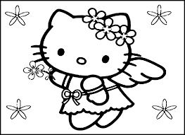 Happy Birthday Hello Kitty Coloring Pages 1