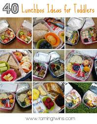 40 Lunchbox Ideas For Toddlers